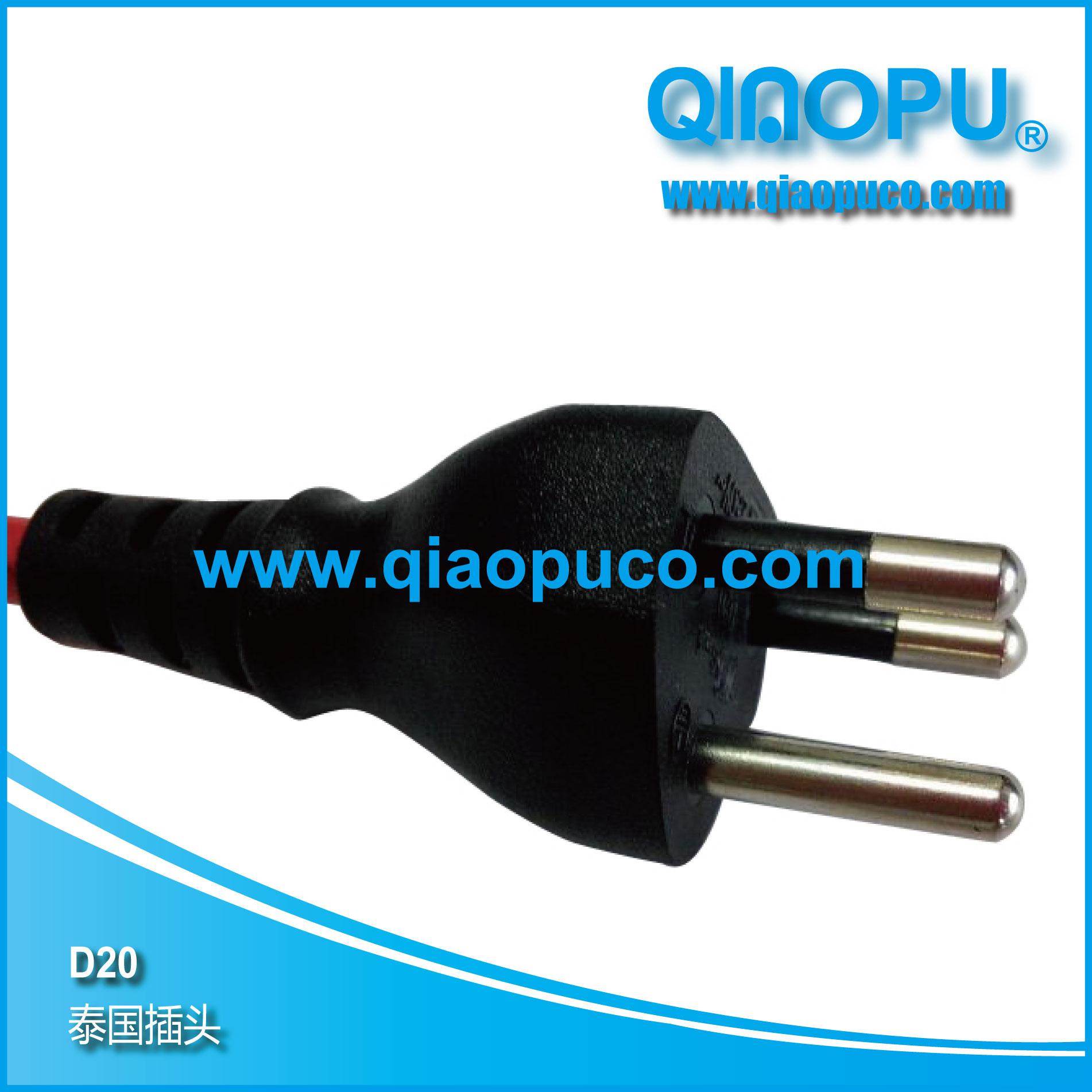 三芯插头的接线标示